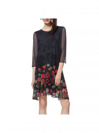 Desigual sivé šaty Vest Okonor dámské sivá XS