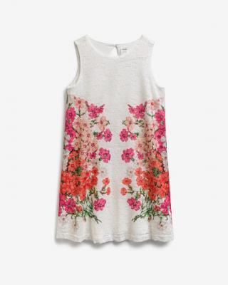 Desigual Swiss Embroidery Šaty detské Biela dámské 13-14 rokov
