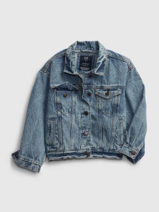 Detská džínová bunda teen oversized denim jacket Modrá 158