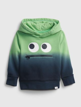 Detská mikina 3d monster dip-dye hoodie Farebná tmavomodrá 104