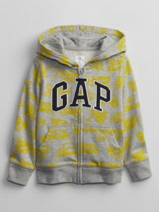 Detská mikina GAP Logo hoodie Žltá 92