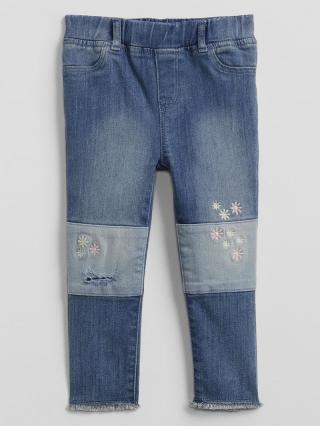 Detské džínsy embroidered patch legging with stretch Modrá 80-86