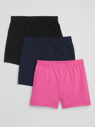 Detské kraťasy cartwheel shorts in stretch jersey, 3ks Farebná čierna 152