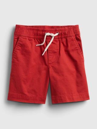 Detské kraťasy poplin pull-on shorts Červená 86-92