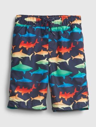 Detské plavky recycled shark graphic board shorts Farebná tmavomodrá 134-140