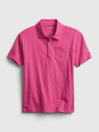 Detské polo tričko ss jrsy grncamo xl Ružová 116-128