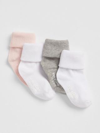 Detské ponožky roll crew socks, 4 páry Farebná biela 104-110