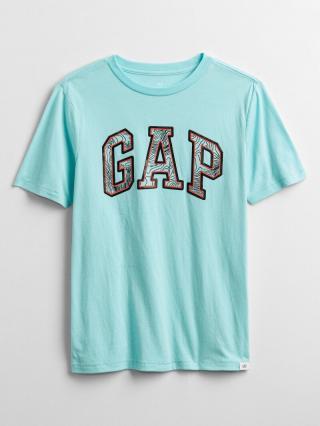 Detské tričko GAP Logo graphic t-shirt Modrá 98-110