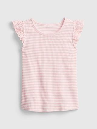 Detské tričko lace-trim tank Ružová 86-92