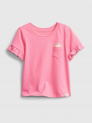 Detské tričko ruffle t-shirt Ružová 80-86