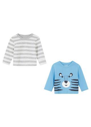 Detské tričko s dlhým rukávom  bio bavlna šedá 68/74,80/86,56/62,92/98