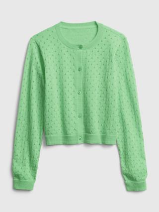 Detský sveter knit cardigan Zelená 116-128