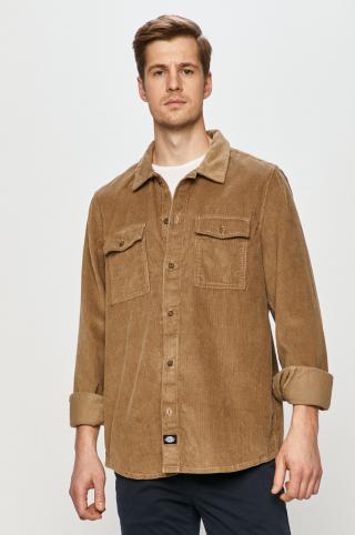 Dickies - Bavlnená košeľa pánské zelená S