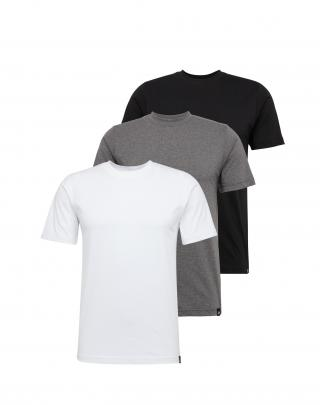 DICKIES Tričko  sivá / čierna / biela pánské XS