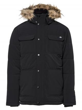 DICKIES Zimná bunda Manitou  čierna / svetlohnedá pánské M