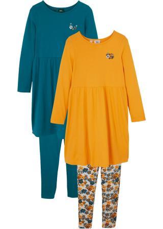 Dievčenské tričko s dlhým rukávom   legíny  dámské modrá 104/110,116/122,128/134,140/146,152/158,164/170