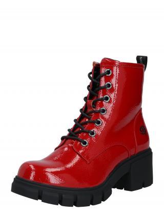 Dockers by Gerli Šnurovacie členkové čižmy  čierna / červená dámské 37