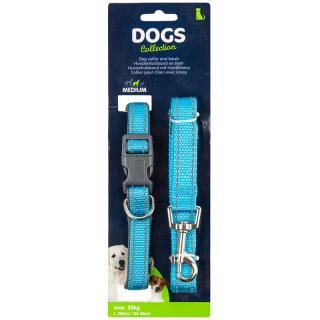 Dogs Obojok pre psa s vodítkom vel. small, modrá