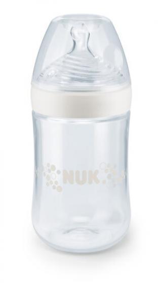 Dojčenská fľaša NUK Nature Sense 260 ml biela