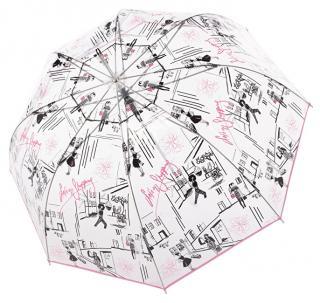 Doppler Dámsky palicový vystreľovací dáždnik Fiber Long Automatic transparent St. tropez 7405427S dámské