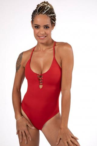 Dorina - Plavky dámské červená XS
