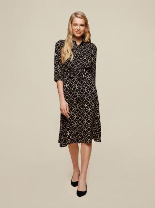 Dorothy Perkins čierne košeľové šaty so vzormi - XS dámské čierna XS