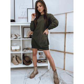 DOVE khaki dress EY1455 dámské Neurčeno One size