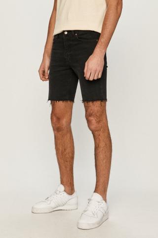 Dr. Denim - Rifľové krátke nohavice pánské čierna 29