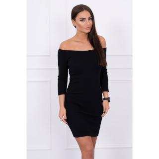 Dress fitted - ribbed black dámské Neurčeno One size