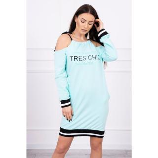 Dress Tres Chic mint dámské Neurčeno One size