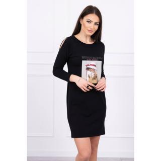 Dress with a Basket print black dámské Neurčeno One size