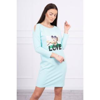Dress with Love print mint dámské Neurčeno One size