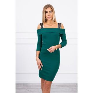Dress with wide straps green dámské Neurčeno One size