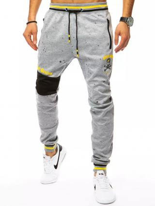 Dstreet UX3069 gray mens trousers pánské Neurčeno M