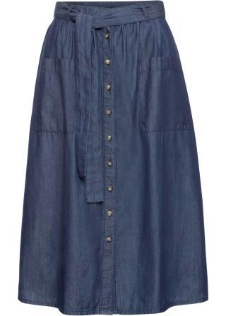 Džínsová sukňa dámské modrá 34,36,38,40,42,44,46,48,50