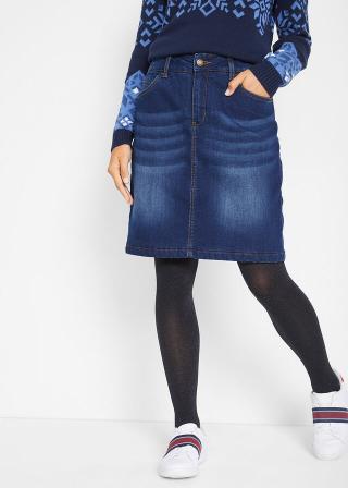 Džínsová sukňa, termo dámské modrá 42,36,38,40,44,46,48,50,52,54