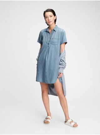 Džínsové šaty denim popover dress Modrá dámské S