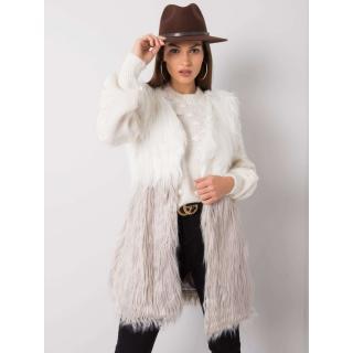 Ecru-gray fur vest dámské Neurčeno M