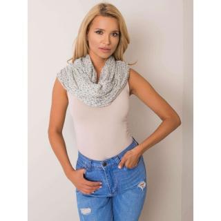 Ecru women´s scarf with a star motif dámské Neurčeno One size