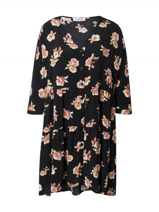 EDITED Košeľové šaty Marisa  čierna dámské 34