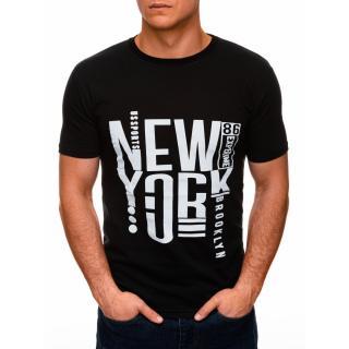 Edoti Mens printed t-shirt S1400 pánské Black M