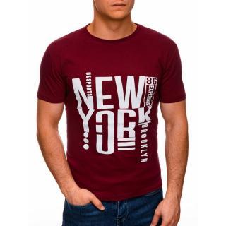 Edoti Mens printed t-shirt S1400 pánské Red M