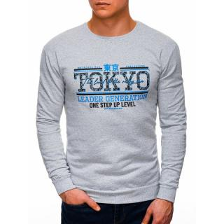Edoti Mens sweatshirt B1264 pánské Grey M