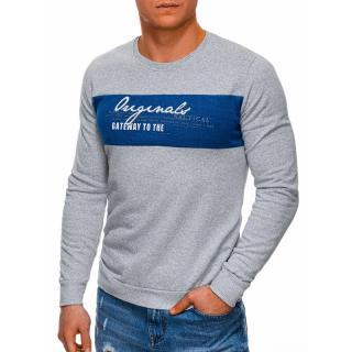 Edoti Mens sweatshirt B1267 pánské Grey M