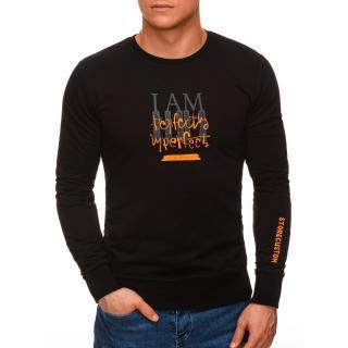 Edoti Mens sweatshirt B1271 pánské Black M