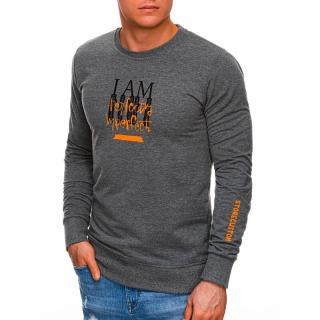 Edoti Mens sweatshirt B1271 pánské Grey M