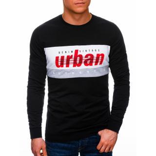 Edoti Mens sweatshirt B1290 pánské Black M