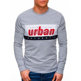 Edoti Mens sweatshirt B1290 pánské Grey M