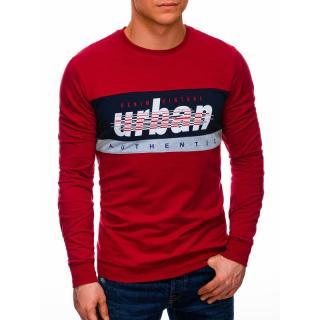 Edoti Mens sweatshirt B1290 pánské Red M
