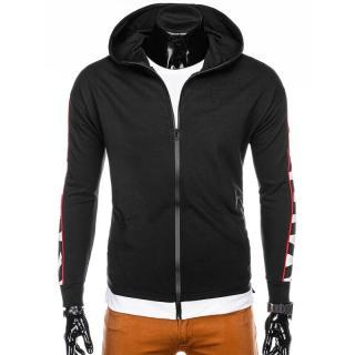 Edoti Mens zip-up sweatshirt B1039 pánské Black XL